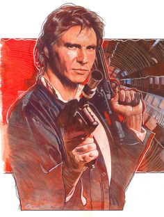 Star Wars - Han Solo by MarkRaats