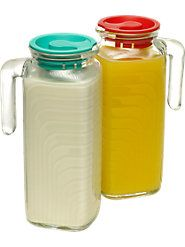 Heavyweight Glass Jugs Look Good on the Table, Fit Great in the Fridge
