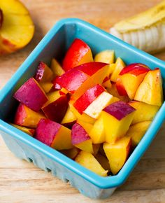 Peaches and nectarines for peach pie oatmeal.