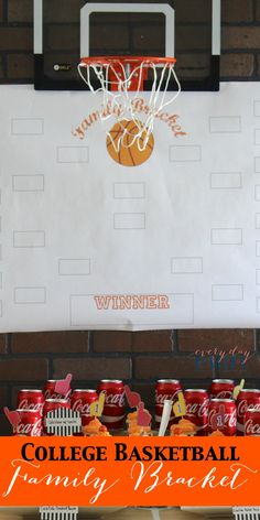 College Basketball Family Bracket - Everyday Party Magazine