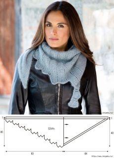 A shawl \'A stone tulip\' according to Olga Rostovskaya's description - Knitting - the Country of Mothers // Larisa Kolomiiets Knit Crochet, Crochet Tops, Knitting, Winter, Felt, Fashion, Shawl, Scarves, Ponchos