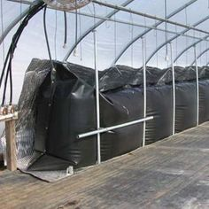 Solar heating for greenhouses