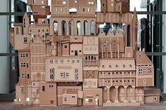 A city of cardboard.