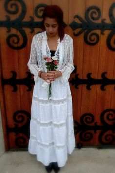 Long Wedding Dress RePurposed Clothing Upcycled by MexiSoul, $340.00