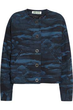 KENZO|Cloud-print wool-blend jacket