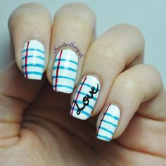 Back To School Nail Art learn. School Nail Art, Back To School Nails, Gel Acrylic Nails, Acrylic Nail Designs, Pretty Nail Colors, Pretty Nails, Beautiful Nail Art, Gorgeous Nails, August Nails