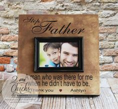 Step Father Picture Frame Step Dad by 2ChicksAndABasket on Etsy