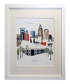 Look what I found on #zulily! Charlotte City Print by albie designs #zulilyfinds