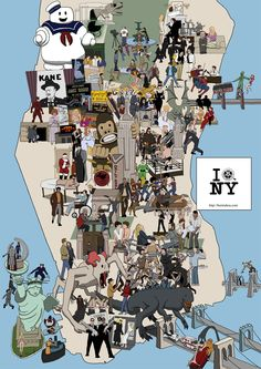 Map of #movies that take place in #NYC