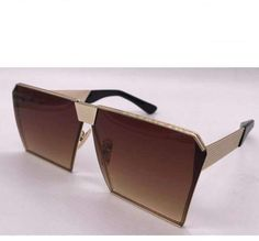 Unisex Oversized Polygon Sunglasses