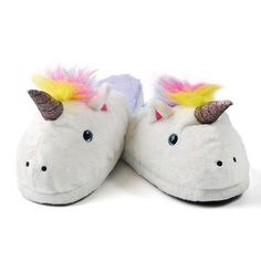 UNICORN-COMFY-GIRLS-WOMENS-CUTE-LOUNGE-INDOOR-SLIPPERS-FITS-UP-TO-SIZE-7-NEW