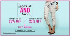 Steve Madden Coupon – 20% off $75 + 25% off $125 or more
