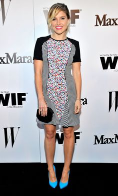 Sophia Bush at MaxMara and W Magazine Cocktail Party on June, 10th, 2014. Dress by MaxMara.