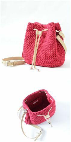 Crochet Backpack, Crochet Clutch, Crochet Handbags, Crochet Purses, Crochet Designs, Crochet Patterns, Free Crochet Bag, Crochet Bag Tutorials, Yarn Bag