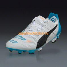 El mas barato Zapatos de Futbol Puma Evopower 1.2 FG Para Terreno Firme Blanco  Negro Hawaiian Ocean 955c16c16dc