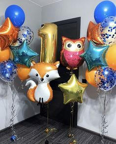 Balloon Animals, Balloon Decorations, Woodland, Balloons, Happy Birthday, Party, Projects, Instagram, Ideas