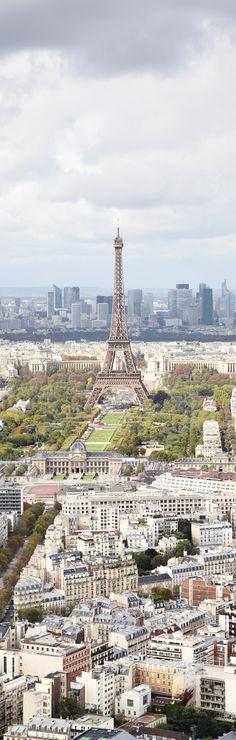 Vistas aéreas del centro de París Francia.