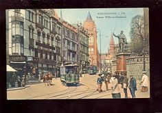 Königsberg Kaiser-Wilhelm-Denkmal Straßenbahn Tram 1910