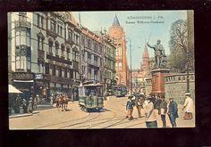 AK Königsberg Kaiser-Wilhelm-Denkmal Straßenbahn Tram 1910