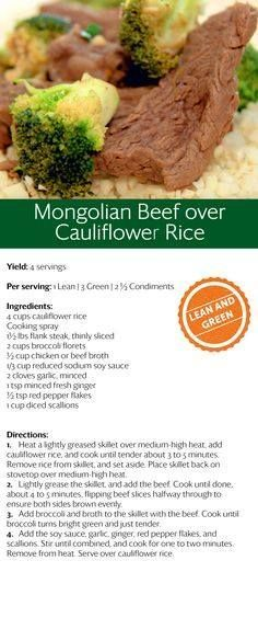 Mongolian Beef over cauliflower rice! Pin now make later! Mongolian Beef over cauliflower rice! Pin now make later! Medifast Recipes, Beef Recipes, Cooking Recipes, Healthy Recipes, Bariatric Recipes, Protein Recipes, Lean Protein Meals, Lean Meals, French Tips