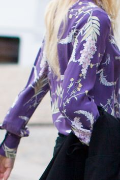 emerson fry . lilac floral . blouse