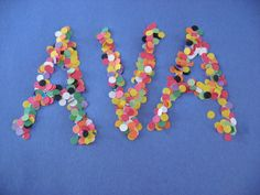 Hole Punch Name Craft - Pinned by @PediaStaff – Please visit http://ht.ly/63sNt for all (hundreds of) our pediatric therapy pins
