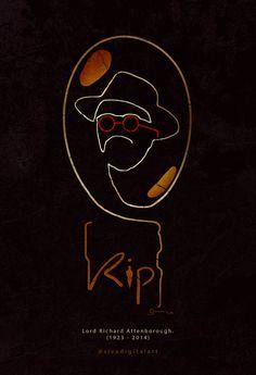 :( RIP Lord Richard Attenborough. Actor, Film director, Film producer… (29 August 1923 - 24 August 2014)  #RIP #lordrichardAttenborough #RichardAttenborough #RipRichardAttenborough #24August2014 #JohnHammond #jurassicpark #minimal #art #respect #sivadigitalart