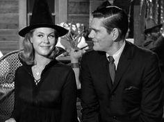 Samantha & Darrin Stephens | Bewitched (1964 - 1972)  #elizabethmontgomery #dickyork #couples