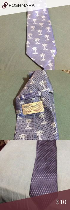 Men's Tommy Bahama   Necktie Blue Palm tree necktie tommy, kenneth cole Accessories Ties