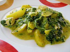 Kartoffel - Spinat - Curry, ein sehr leckeres Rezept aus der Kategorie Geflügel. Bewertungen: 112. Durchschnitt: Ø 4,3.