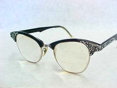 48f41d83ff SALE - MeOw Vintage Cat Eye Eyeglasses Fashion Accessory Display Glasses  Black Frames Art Craft GF