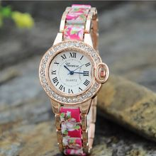 c42cbc31759 2015 Hot Sale da moda senhoras vestido relógios mulheres relógio de aço  inoxidável e resina pulseira