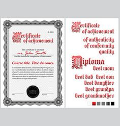 Vintage diploma template free vector certificate pinterest black and white certificate template guilloche vector yadclub Choice Image
