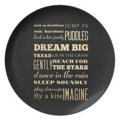 Inspirational Art - Dream Big. Dinner Plates