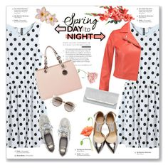 """Spring Day to Night"" by kellylynne68 ❤ liked on Polyvore featuring WithChic, T By Alexander Wang, Jimmy Choo, Kate Spade, MICHAEL Michael Kors, Natasha Accessories, Christian Dior, DayToNight, Spring and PolkaDots"