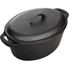 Cajun Cookware Pots 5 Quart Seasoned Cast Iron Oval Casserole Pot -- Amazon most trusted e-retailer #CastIronSkillet Lodge Cast Iron, Cast Iron Pot, Cast Iron Skillet, Cast Iron Cookware, Cast Iron Cooking, It Cast, Seasoning Cast Iron, How To Show Love, Dutch Oven