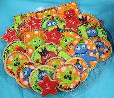 Monster Cookies  (1 dozen) on Etsy, $42.00