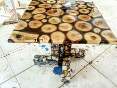 Olaconcept wood epoxy coffee table whatsapp +905324937275