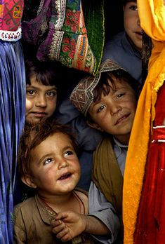 """Children of Afghanistan <3 Could put together photos like this for a """"children around the world"""" collage"""