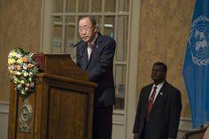 "Secretary General Ban Ki-moon addresses event in Sri Lanka on ""Sustaining Peace – Achieving Sustainable Development Goals."" UN Photo/Eskinder Debebe"