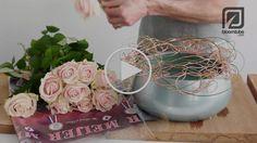 Flower arrangement with Rosa Sweet Avalanche. Bloomtube DIY