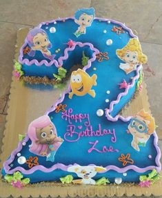 Bubble guppies cake | shaped number.cakes | Pinterest | Bubble ...