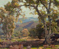 Edgar Payne (1883-1947). Sycamores Near Santa Paula. Oil on canvas, 22 x 26 in.