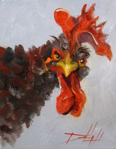 This is the most awesome rooster painting!
