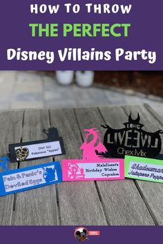 The Villains are such a fun part of Disney.  Celebrate these baddies with a Villains party.  Click inside for the details on how to easily throw the BEST Villains party at your house. Disney Home, Disney Tips, Cute Disney, Disney Cruise, Villains Party, Best Villains, Disney Villains, Halloween Kids, Halloween Party