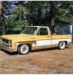 Chevy c10 6/8 drop 18/20 smoothies with dog dish hubcaps.
