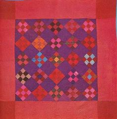 Nine-Patch, Lancaster Co, Pennsylvania. Amische Quilts, Wool Quilts, Mini Quilts, Bright Quilts, Colorful Quilts, Antique Quilts, Vintage Quilts, Patch Quilt, Quilt Blocks