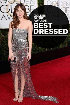 Golden Globes Red Carpet's Best & Worst Dressed | Dakota Johnson, Chanel