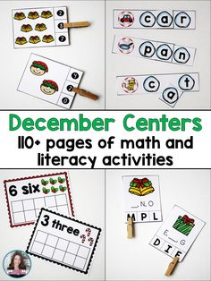 Save 50% when purchasing these Winter themed centers in the bundle! Students will love practicing their math and literacy skills during the month of December! Games have snowball, tree, and candy themes! This bundle of centers will make it easy for you to plan and prep a set of math and literacy centers to use during December. This bundle includes eight different centers - 4 math and four literacy.