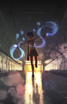 little spirits by rtil on DeviantArt #digital #magic